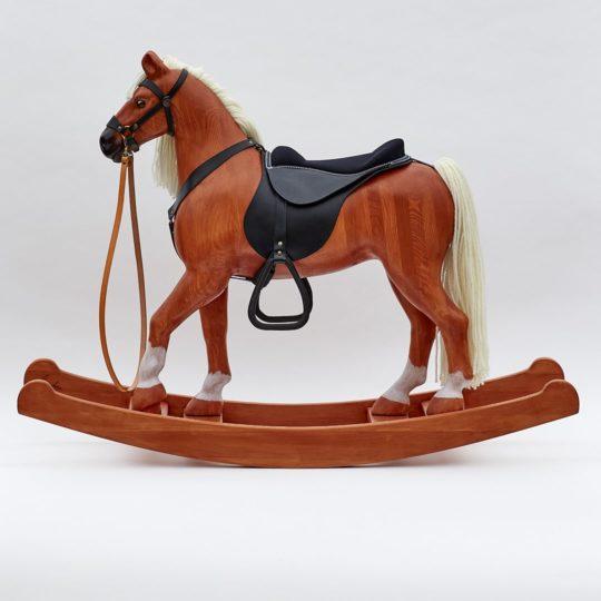 Grande cavallo a dondolo sauro