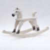Cavallo a dondolo bianco Amazing Ruby