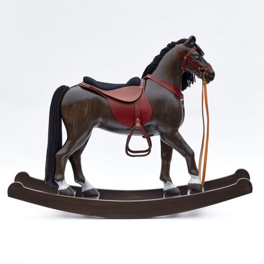 Cavallo a dondolo morello Royal Spinel