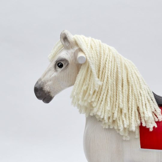 Cavallo a dondolo bianco Shining Spinel