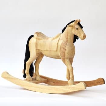 Cavallo a dondolo naturale Shining Spinel